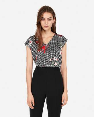 Express Floral Gingham Gramercy Tee