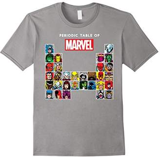 Marvel Periodic Table Of Heroes & Villains Retro T-Shirt