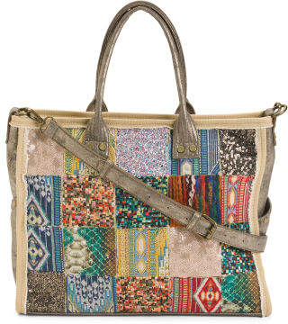 Mixed Media Patchwork Tote