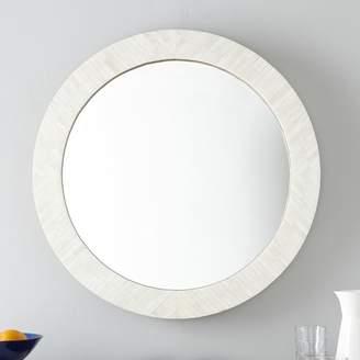 west elm Parsons Round Mirror - Bone Inlay