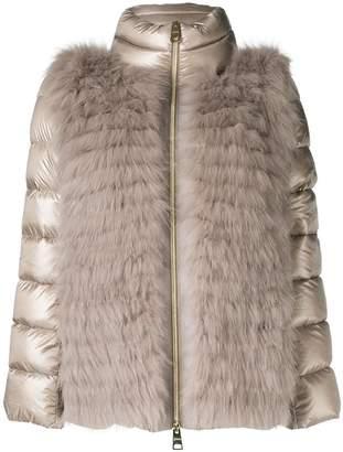 Herno fur detail puffer jacket