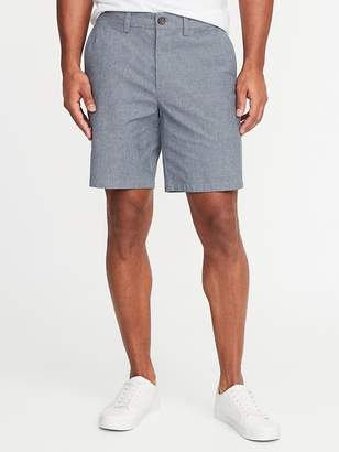 Old Navy Ultimate Slim Built-In Flex Chambray Shorts for Men - 8-inch inseam