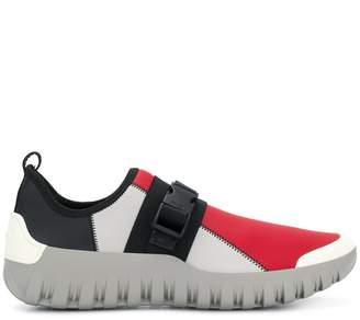 Prada neoprene safety buckle sneakers