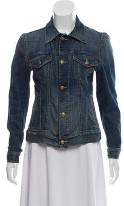 R 13 Denim Distressed Jacket