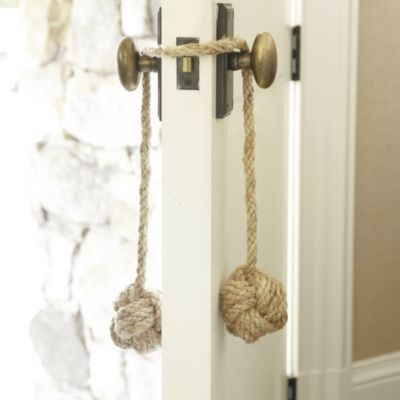 Set of 3 Monkeys Fist Rope Doorstop