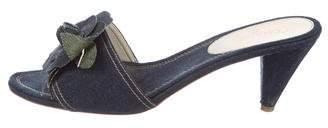Chanel Denim Slide Sandals