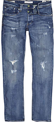 River Island Pepe Jeans blue Cash ripped jeans