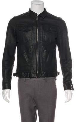 Alexander McQueen Wax Coated Denim Jacket