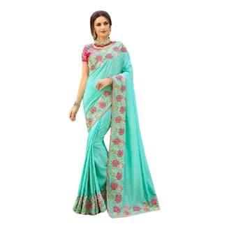 SHRI BALAJI SILK & COTTON SAREE EMPORIUM Fresh Arrival Designer Heavy Embroidery Silk Saree Sari Indian Bridal Wedding Women Dress Ethnic 7252