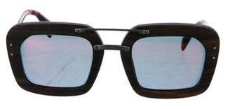 Prada Wooden Polarized Sunglasses