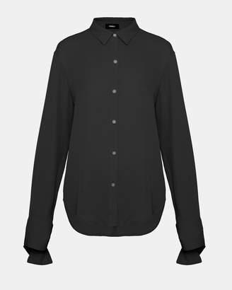 Theory Silk Tie-Cuff Shirt