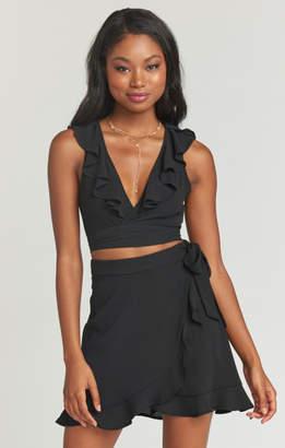 MUMU Roam Ruffle Skirt ~ Black Pebble