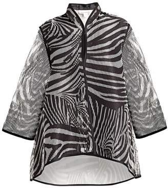 Caroline Rose Retro Graphic Grid Angle A-Line Jacket