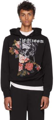 Alexander McQueen Black Skulls and Roses Hoodie