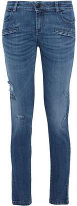 Pierre Balmain Distressed Mid-Rise Skinny Jeans