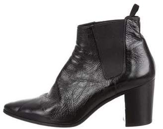 Saint Laurent 2015 French 85 Pointed-Toe Leather Ankle Boots