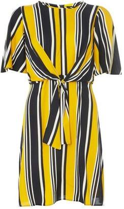 Dorothy Perkins Womens Yellow and Navy Striped Skater Dress