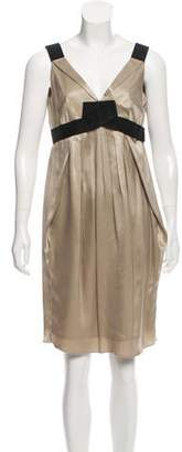 Paule Ka Pleated Silk Dress