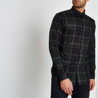 River Island Mens Brown Jack and Jones Premium check shirt