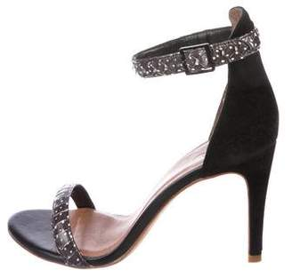 Joie Snakeskin Ankle-Strap Sandals