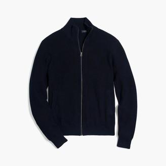 J.Crew Cotton ribbed full-zip sweater