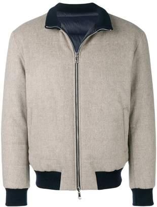 Barba zipped up bomber jacket