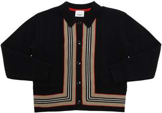 Burberry WOOL & CASHMERE KNIT CARDIGAN