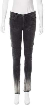 Vince Mid-Rise Distressed Jeans