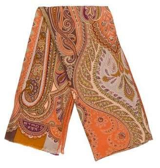 Etro Wool & Silk-Blend Scarf