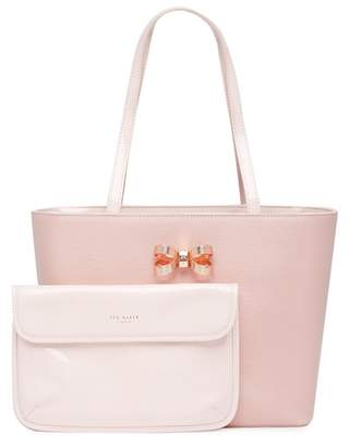 Ted Baker Lamica Patent Leather Bow Small Shopper Tote