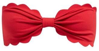 Marysia Swim Antibes Scallop Edged Bandeau Bikini Top - Womens - Red