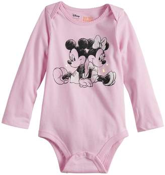 Osh Kosh Disneyjumping Beans Disney's Mickey Mouse & Minnie Mouse Baby Girl Graphic Bodysuit by Jumping Beans