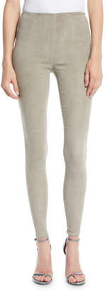 Ralph Lauren Suede Side-Zip Leggings
