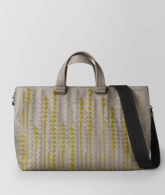 Bottega Veneta DARK CEMENT/CHAMOMILE CALF TOTE