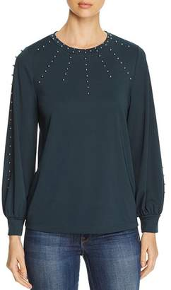 Karl Lagerfeld Paris Faux-Pearl-Embellished Top