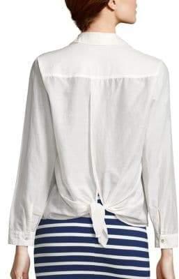 L'Agence Hana Tie-Back Blouse
