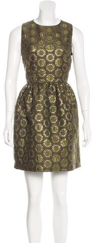 RED Valentino Red Valentino Metallic Brocade Dress w/ Tags