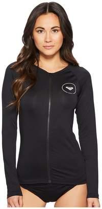 Roxy Essentials Long Sleeve UPF 50 Zip Up Rashguard Women's Swimwear