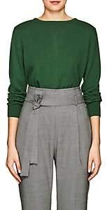 Women's Button-Back Cashmere Cardigan - Green