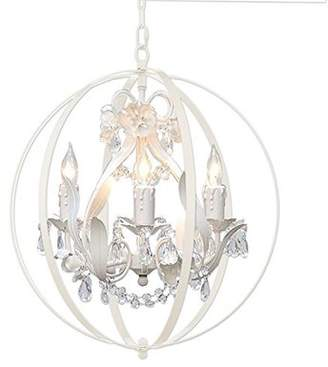 House of Hampton Hackford Floral Orb 4-Light Mini Chandelier