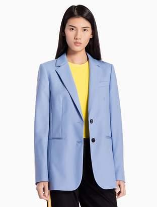 Calvin Klein wool woven tailored jacket