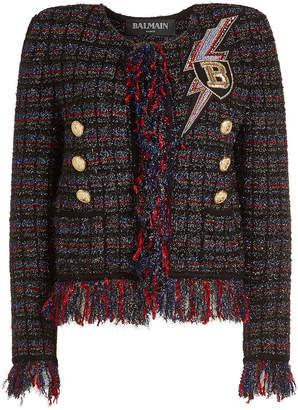 Balmain Tweed Jacket with Metallic Thread