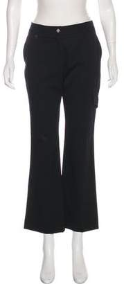 Saint Laurent Wool Mid-Rise Wide-Leg Pants