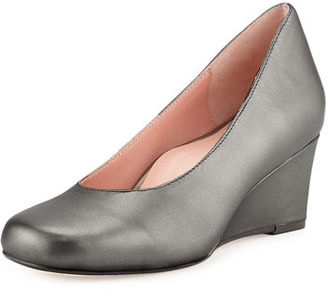 Taryn Rose Taijo Napa Leather Wedge Pump $245 thestylecure.com