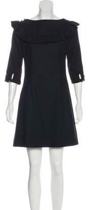 Loeffler Randall Ruffle Accent Mini Dress