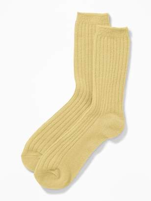 Old Navy Soft-Brushed Rib-Knit Socks for Women