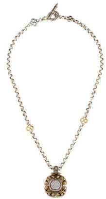 Konstantino Diamond Scroll Pendant Necklace