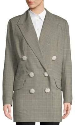 Windowpane Double-Breasted Jacket