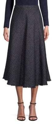 Escada Raffini Tweed Circle Midi Skirt