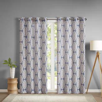 Alcott Hill Gottberg Ikat Room Darkening Grommet Single Curtain Panel